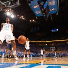 Durant celebrates after clinching a victory over Memphis in Game 7 of the Western Conference semifinals.