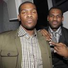 Two of the new generation of superstars in the NBA, Durant and LeBron James take a picture at the 4th Annual Two Kings Dinner on Feb. 13, 2010. While LeBron generated more hype, it was Durant who led the league in scoring, averaging 30.1 points over an 82-game season.