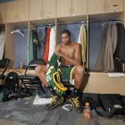 Durant slips on his jersey before a matchup with the Nuggets in the Pepsi Center in 2007. Much like with LeBron in his rookie season, opposing crowds relished the opportunity to watch the youngster play.