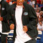 Florida's Taurean Green busts a move at the Gators' 2006 Midnight Madness. The defending champion, would go on to win their second consecutive national title.