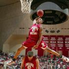 Indiana forward A.J. Ratliff wows the Hoosier crowd at Assembley Hall in 2005.