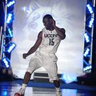 UConn's Kemba Walker shows off his moves during the Huskies' 2009 celebration.