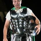 Michigan State coach Tom Izzo dresses up in a Spartan-themed costume in 2007.