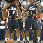 Not to be outdone by the men's squad, the reigning women's champions, led by Kalana Green and Tina Charles, showed off some moves of their own.