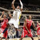 2009-10 Key Stats: 24.2 ppg | 2.6 3PM | 5.5 rpg | 1.5 spg   After exhibiting great durability in his first three seasons, Danny Granger is one injury away from the dreaded injury-prone label.  When healthy, Granger is the primary scorer on a team with few other options.  He hits three-pointers at a great clip (2.6 a game last year), and is a season removed from blocking 1.5 shots a game.  With Darren Collison in town, Granger might have even an easier team scoring.  If other owners let Granger slip because of injury, don't make the same mistake.