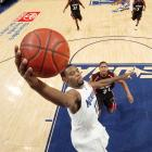 After playing small forward throughout high school, Evans initially struggled with his transition to shooting guard at Memphis. But on Dec. 29, against Cincinnati, Evans got the start at point guard and he flourished. Playing 33 minutes, he tallied 14 points, 10 rebounds and eight assists, the latter two being season highs. Better yet, with Evans at the helm, the Tigers would not lose another game until the NCAA tournament.