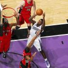 """Facing the Toronto Raptors on March 11, 2010, Evans recorded his first career triple-double with 19 points, 10 rebounds and 10 assists.  The performance came on """"Rally for 'Reke ROY Night,"""" a promotion by the Kings to garner attention for Evans' Rookie of the Year campaign.  On this night at least, Evans didn't really need any help though."""