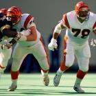 Offensive tackle Anthony Munoz (78) was a quarterback's best friend during his 14 seasons in the NFL, making the Pro-Bowl a staggering 11 consecutive years from 1981 to 1991.  Even he couldn't stop the Bengals' 1987 season from sinking, though, as Cincinnati slipped to an underwhelming 4-11.