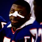 The Giants were riding high entering the 1987 season, celebrating a Super Bowl XXI drubbing of the Denver Broncos the previous January.  The good times didn't last too long.  New York, and linebacker Carl Banks, dropped its first five games en route to a disappointing 6-9 season.