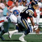 Tight end Kellen Winslow and the Chargers sprinted out the gates in 1987, winning eight of their first nine games to take a comfortable lead atop the AFC West.  Too comfortable, perhaps, as they'd lose their next six, including this 31-17 contest to the Denver Broncos, to finish a disappointing third in the division.