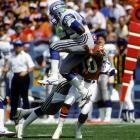 Known for his field awareness and ability to jump receivers' routes, Seattle safety Kenny Easley tallied 32 interceptions during his seven-year career.  One of those came during a Sept. 13 contest against the Broncos, when Easley snagged an errant John Elway pass.  It wasn't enough, however, as Denver thumped Seattle 40-17.