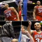 When Sir Charles of the 76ers decided to unload some saliva on a heckler at the Meadowlands, he ended up hitting an eight-year-old girl. Barkley apologized after he was ejected, but the NBA nailed him with a one game suspension without pay and a $10,000 fine.