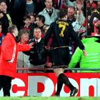 The Manchester United striker lived up to the name of his position by leaping into the stands and karate-kicking a fan in the chest. Cantona, who had been ejected from the game when he took exception to the fan's taunts, was charged with assault and served a nine-month suspension.    CLICK HERE  to watch the video.