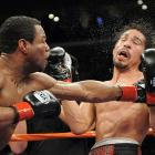 Perhaps distracted by the career-threatening illegal hand-wrap revelation from before the fight, Margarito was comprehensively outclassed by Mosley, who won the WBA welterweight title with an 11th-round knockout.