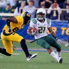 Last Week:  29 rushes for 91 yards; two receptions for 11 yards in 15-13 win over Cal   Season:  225 rushes for 1,422 yards and 17 TDs; 10 receptions for 149 yards and one TD  The Duck had a few less push-ups to do as Cal kept James out of the end zone for the first time since the Rose Bowl and held him to a career-low 3.1 yards per carry. But the most concerning sight was James being helped off the field with an ankle injury. He was on crutches after the game but insisted he's fine. He'll get a week off before facing the Pac-10's top rushing defense.   Next Up:  Saturday. Nov. 26 vs. No. 23 Arizona