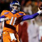 Last Week:  27-of-38 passing for 333 yards, four TDs and one INT; two rushes for zero yards in a 51-0 win over Fresno State   Season:  201-of-280 passing for 2,921 yards, 28 TDs and five INTs; 12 rushes for minus-23 yards; one reception for seven yards and one TD; one punt for 54 yards  In three games this month, Moore has thrown for 1,056 yards and 10 scores and completed 75.2 percent of his passes -- all while playing in just under nine of the team's 12 quarters. He's always been efficient, ranking 12th nationally in 2008, second in 2009 and first this season, but he struggled in the past with the long ball. Not this year. Moore has completed nine of 10 deep throws to Titus Young for 461 yards and six touchdowns.   Next Up:  Friday at No. 19 Nevada