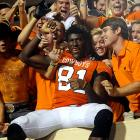Last Week:  Suspended   Season:  62 receptions for 1,112 yards and 14 TDs; three rushes for eight yards  Oklahoma State racked up 511 yards of offense without Blackmon, but this offense truly missed its most lethal weapon, who was suspended after being arrested on a misdemeanor DUI charge. The Cowboys lacked the ability to finish drives they have with the nation's leading receiver in the lineup as they were held 21 points below their season average. Fortunately for the Cowboys Blackmon's expected back with No. 21 Baylor coming to Stillwater.   Next Up:  Saturday vs. No. 22 Baylor