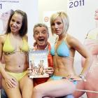 Michael O'Leary, the chief executive officer of the Irish low-fare airline Ryanair, provided cheap seats for two of his flight attendants in Berlin on Nov. 9. What on earth does  this  have to do with sports, you ask? Well, Mr. O'Leary looks a sport, right?  Nudge nudge wink wink ... say no more ...