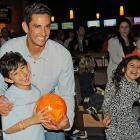 From the looks of this one, the longtime Yankees backstop and his son unveiled a revolutionary new bowling ball made entirely of processed cheese at the 2010 Jorge Posada Foundation Celebrity Basebowl at New York City's Chelsea Piers Sports Center on Nov. 7.