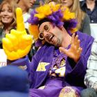 And here we have a man of great dignity attending a game between the Phoenix Suns and Los Angeles Lakers at Staples Center.