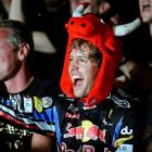 It's often said that Formula One drivers are much more dignified than their  counterparts in NASCAR. Herewith, some evidence from the Abu Dhabi Grand Prix. Herr Vettel not only won the race, but also grabbed the 2010 world championship, all without making a spectacle of himself.