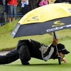 Here's one way to sneak onto the course at Victoria Golf Club in Melbourne if you haven't paid your greens fees....
