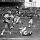 "During the 1975 NFC divisional game, the Cowboys found themselves down 14-10 to the Vikings. With 24 seconds remaining, Cowboys quarterback Roger Staubach threw a desperation pass toward the end zone.  Despite being blanketed by cornerback Nate Wright, receiver Drew Pearson trapped the ball and scrambled into the end zone for the win.  Staubach used the term ""Hail Mary"" in the postgame press conference, and the legend was born.   What Hail Mary would you add to the list? Send comments to siwriters@simail.com."