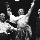 The Gary, Ind., native emerged as the universally recognized middleweight champion with a victory over New York State champion Georgie Abrams. After joining the Navy and serving until the end of World War II, Zale was still hailed as champion entering a 1946 title defense against Rocky Graziano. He retained the title on a sixth-round knockout, but lost it 10 months later in the rematch.  Ring  magazine declared each the Fight of the Year for 1946 and '47, respectively.