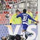 MLS MVP David Ferreira scores a first-half goal, beating goalkeeper Matt Pickens off a cross from Martin Chavez in the 36th minute.