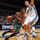 Brandon Jennings grabbed headlines after a 55-point explosion early in his rookie year, part of a 2009-2010 season in which he averaged 15.5 points and 5.7 assists and helped the Bucks reach the playoffs. He remains a sub-40-percent shooter, but Milwaukee is high on his potential.