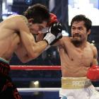 Margarito depended heavily on the jab early and enjoyed pockets of success, but Pacquiao's blinding hand speed won the opening rounds.