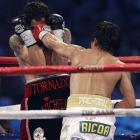 The pinpoint accuracy of Pacquiao's straight punches found holes in Margarito's defense, often right down the middle.