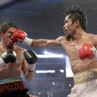 The fourth round was a turning point as Pacquiao began connecting with punches all over Margarito's face and body, creating a huge welt under the Mexican's right eye.
