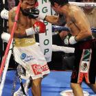 Margarito's greatest success came when he pinned Pacquaio along the ropes, but the Filipino was never there for long.