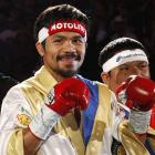 Pacquiao, who turned pro at 106 pounds, was gunning for an eighth world title in eight different weight classes.