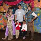 Brady, his son Jack and niece Jordan meet Rapunzel and Flynn Rider of Disney's animated film  Tangled  while celebrating Jordan's fifth birthday at Disneyland in Anaheim, Calif.