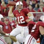 Andrew Luck threw for 293 yards and two touchdowns, leading Stanford its highly anticipated showdown with Arizona. Stepfan Taylor added four short touchdown runs for the Cardinal (8-1 overall, 5-1 in the Pac-10), who won easily in the first meeting with Arizona (7-2, 4-2) when both teams were ranked. The Cardinal are enjoying their best season in 40 years and are alone in second place in the Pac-10, keeping alive their hopes for a Rose Bowl bid if they can win their final three games.