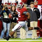 Greg McElroy passed for 227 yards, including a 78-yard touchdown to Mark Ingram (No. 22) as Alabama (8-2, 5-2 Southeastern Conference) showed it can still dominate -- even the improved version of the Bulldogs (7-3, 3-3) -- after its title hopes evaporated. The Tide used big plays to punch up the offense after the Bulldogs kept Ingram and the short-handed running game from producing much. Instead, Alabama had scores of 45, 78 and 56 yards on three consecutive offensive plays starting in the second quarter to run away with it.