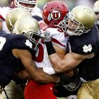 Notre Dame didn't get many yards with first-time starter Tommy Rees under center, but it didn't need to. The Fighting Irish held the Utes to 265 net yards and no touchdowns, the first time Utah had been kept out of the end zone all year.
