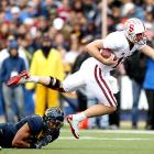 Stanford quarterback Andrew Luck played eight possessions against Cal; the Cardinal scored on all eight. Luck completed 16-of-20 passes for 235 yards and two touchdowns and rushed for 72 yards as Stanford gained its most lopsided win in the Big Game in 80 years.