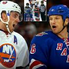 Rangers agitator Sean Avery drives opponents to distraction ... and NC 17 activities. During a Columbus Day matinee, fed-up Islanders defenseman James Wisniewski, in front of a crowd that included NHL commissioner Gary Bettman and a fair number of children, pantomimed fellatio in Avery's direction.  Huh, Pops, what's that guy ...