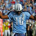 "Nov. 21 was not a good day for Titans quarterback Vince Young. After getting booed and injuring his thumb in Tennessee's overtime loss to Washington, Young had a heated exchange in the locker room with coach Jeff Fisher and stormed out of the stadium. Young reportedly told Fisher, ""I'm not running out on my teammates, I'm running out on you."" The next day, the up-and-down signal-caller was asked not to attend a team meeting at which the Titans would discuss ""Young's situation."" Meanwhile, Young's texted apology to Fisher did not go over well with the coach, who said, ""I think face-to-face is a man thing."""