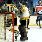 The Hall of Fame goaltender, renowned for popularizing the facemask and backstopping the Montreal Canadiens to six Stanley Cups, concluded his 18 NHL seasons with eight games as a Boston Bruin in 1972-73, going 7-1-0 with a 2.00 GAA. He joined the WHA's Edmonton Oilers at 46 and played in 31 games during the 1974-75 season, posting a 15-14-1 mark with a 3.32 GAA.