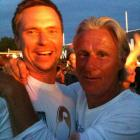 """Soderling (left, with Bjorn Borg) hails from Sweden but lists his location as """"Always Traveling."""" His matter-of-fact tweets, peppered with Twitpics from his travels, emphasize the itinerant state of being.  SAMPLE TWEET  """"had brunch at the boat house in central park today  http://twitpic.com/2h8ooj """""""