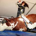 And speaking of rodeo, this bull didn't have a leg to stand on after Paige Duke got through with him at the National Final cowboys skills competition in Las Vegas.