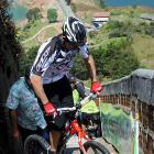 The intrepid Colombian cyclist set a Guinness world record by pedaling his rear end up the 649 steps of the Piedra del Penol monolith in Guatape municipality in 43 minutes. It seems Zapata has a thing for this sort of stuff. He holds five world records for riding up buildings.