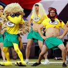 The good folks at the Georgia Dome in Atlanta appear to be staging some sort of tribute to Packers cheerleaders, those hardy souls who aren't afraid to bare (almost) it all in the teeth of brutal winter weather.