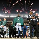 There appeared to be a bit of a gun battle going on in the street outside Lincoln Financial Field before the Eagles took on the Texans...