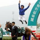 The world's first flying jockey made his dramatic debut at Sha Tin Racecourse where he took home the coveted Cathay Pacific Hong Kong Vase.