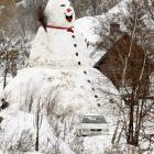 The cousin of the Stay Puft Marshmallow Man of  Ghostbusters  fame stalks the streets of Trzebnica, Poland, on Dec. 11 bringing holiday cheer and scaring the living hell out of everyone. (It took a team of workers six days to conjure Milocinek.)